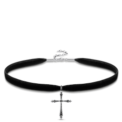 "Choker ""Royalty cross"" from the Glam & Soul collection in the THOMAS SABO online store"
