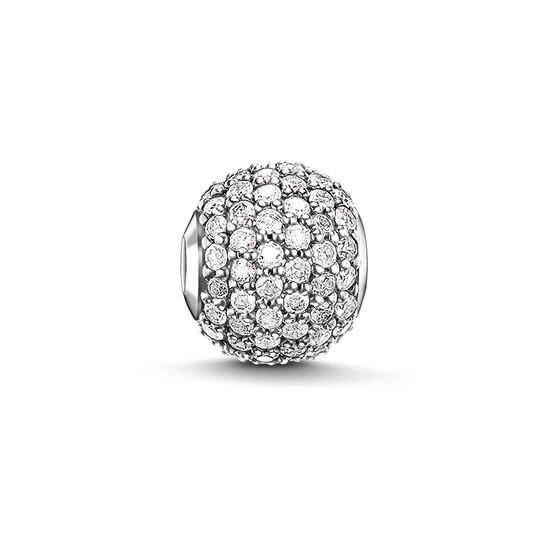 "Bead ""white diamond pavé"" from the Karma Beads collection in the THOMAS SABO online store"
