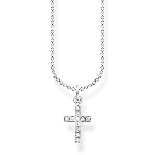 Necklace cross pavé from the Charming Collection collection in the THOMAS SABO online store