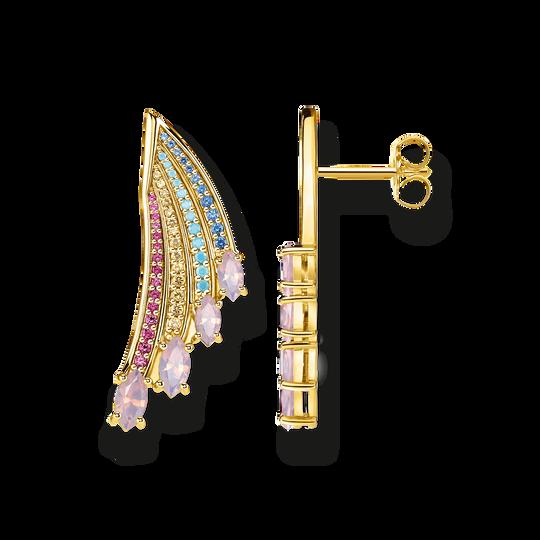 Ohrringe Bunter Kolibri Flügel gold aus der Glam & Soul Kollektion im Online Shop von THOMAS SABO