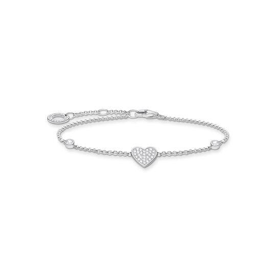Armband Herz mit Steinen silber aus der Charming Collection Kollektion im Online Shop von THOMAS SABO