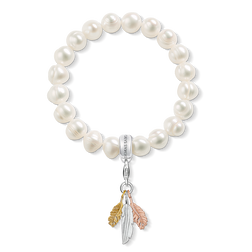 "Charm bracelet ""feathers"" from the  collection in the THOMAS SABO online store"