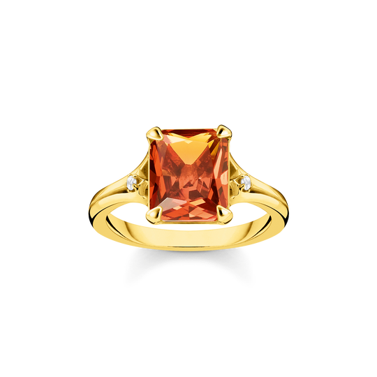 Ring orange stone from the Glam & Soul collection in the THOMAS SABO online store