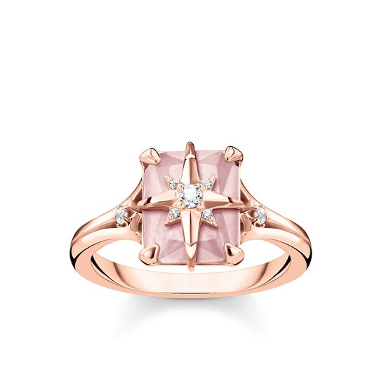 ring pink stone with star from the Glam & Soul collection in the THOMAS SABO online store