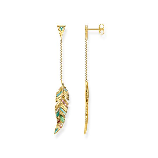 earrings feather from the Glam & Soul collection in the THOMAS SABO online store