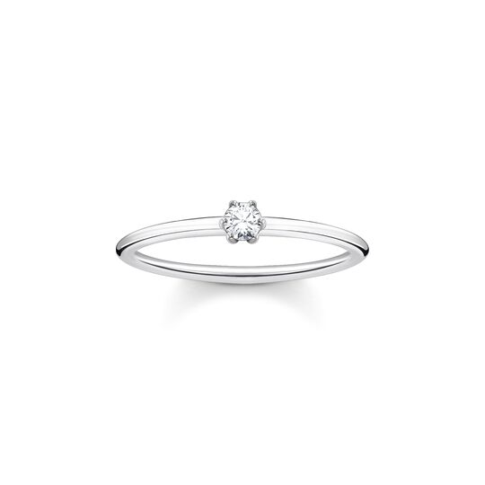 Bague pierre blanche argent de la collection Charming Collection dans la boutique en ligne de THOMAS SABO