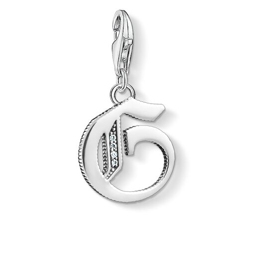 Charm pendant letter G silver from the  collection in the THOMAS SABO online store