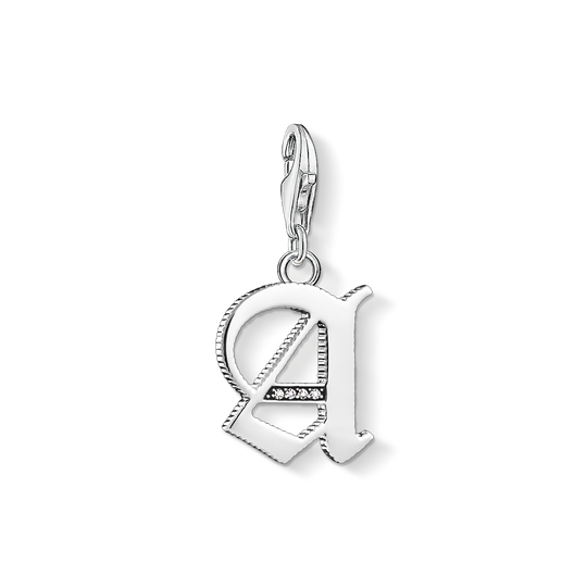 Charm pendant letter A silver from the Charm Club collection in the THOMAS SABO online store