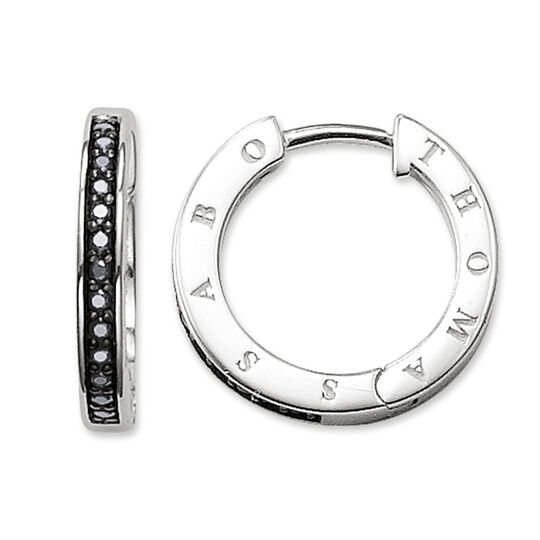 hoop earrings black from the Glam & Soul collection in the THOMAS SABO online store