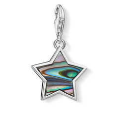 Charm pendant star mother-of-pearl turq from the  collection in the THOMAS SABO online store