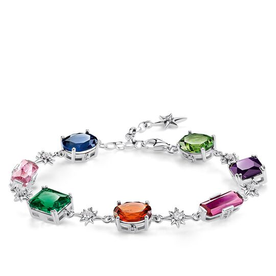 bracelet Colourful stones with silver stars from the Glam & Soul collection in the THOMAS SABO online store