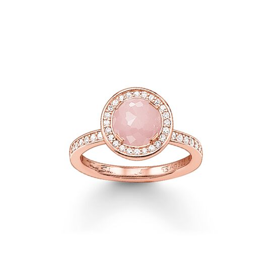solitaire ring light of luna pink from the  collection in the THOMAS SABO online store