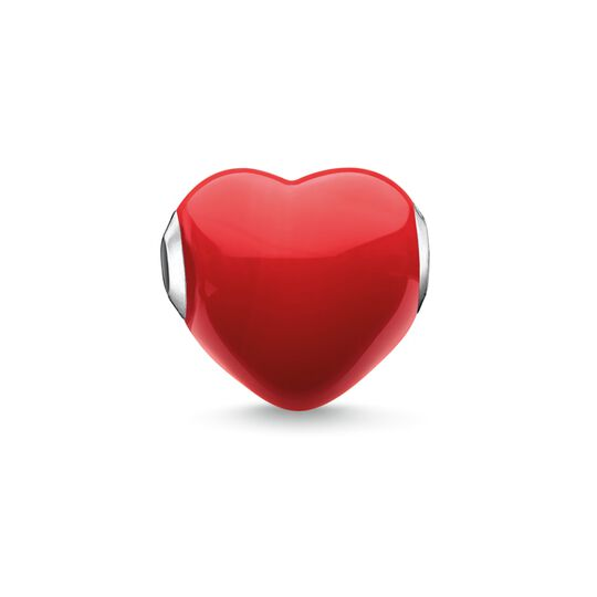 Bead Glass Heart Red from the Karma Beads collection in the THOMAS SABO online store