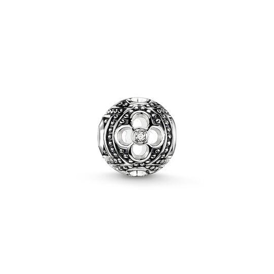 Bead flor negra con diamante Icy de la colección Karma Beads en la tienda online de THOMAS SABO