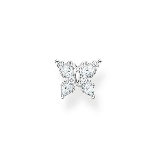 Clou d'oreille unique papillon pierres blanches de la collection Charming Collection dans la boutique en ligne de THOMAS SABO