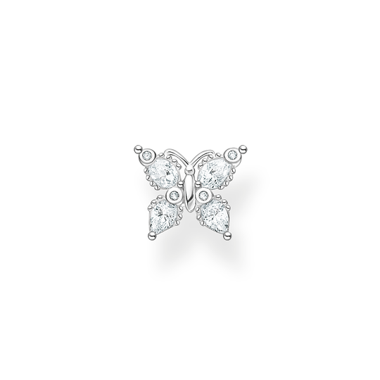 Single ear stud butterfly white stones from the Charming Collection collection in the THOMAS SABO online store