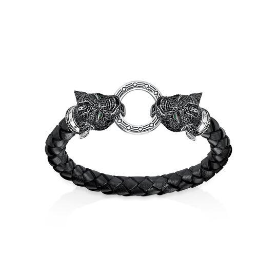 Pulsera de cuero Black Cat de la colección  en la tienda online de THOMAS SABO