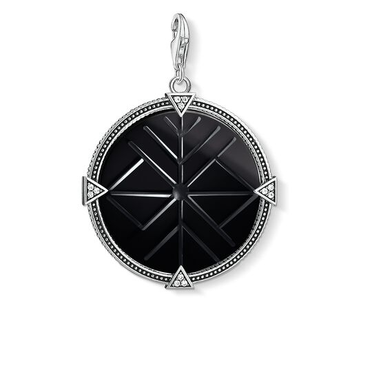 Charm pendant Vintage coin black from the Charm Club collection in the THOMAS SABO online store