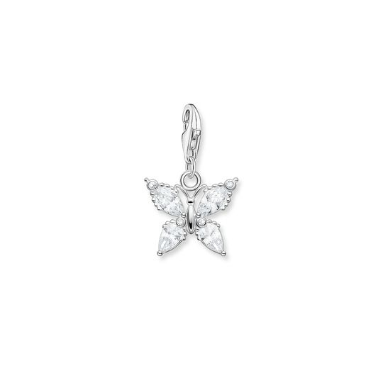 Charm pendant butterfly white stones from the  collection in the THOMAS SABO online store