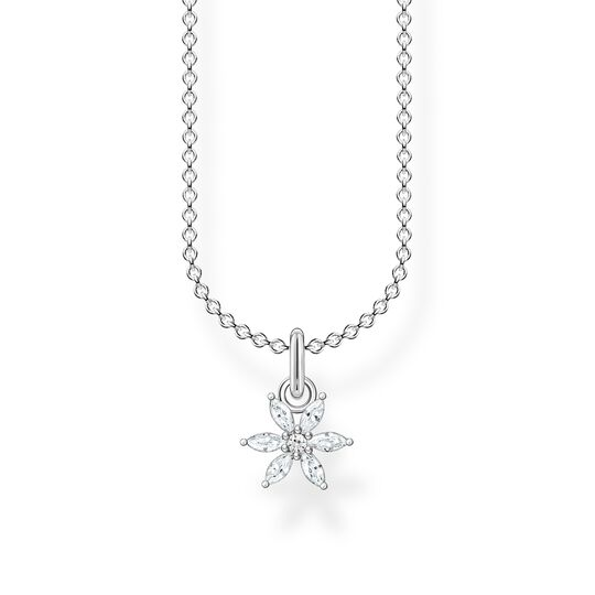 Necklace flower white stones from the Charming Collection collection in the THOMAS SABO online store