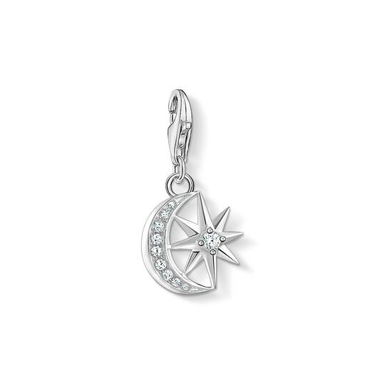 Charm pendant Star & Moon from the Charm Club collection in the THOMAS SABO online store