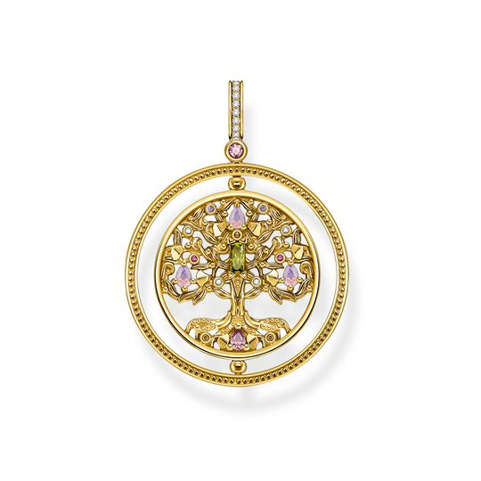 Pendant tree of love gold colourful stones from the  collection in the THOMAS SABO online store