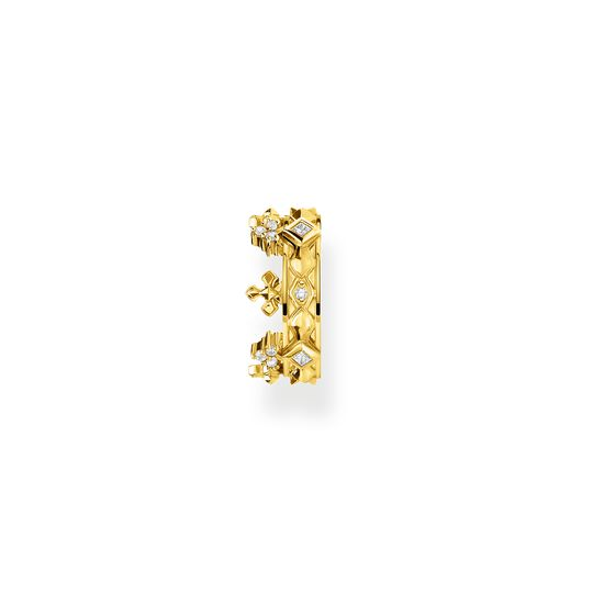 Single ear cuff crown gold from the Glam & Soul collection in the THOMAS SABO online store