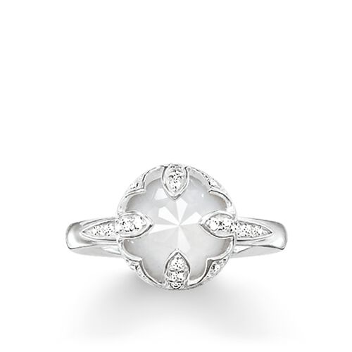 "solitaire ring ""white lotus"" from the Glam & Soul collection in the THOMAS SABO online store"