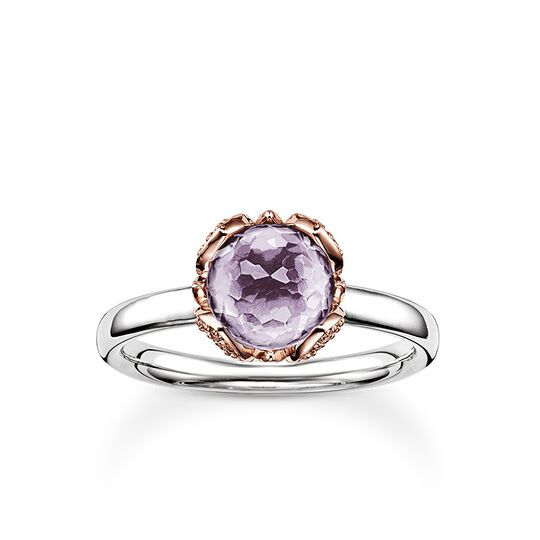 solitair ring purple Lotos Blossom from the Glam & Soul collection in the THOMAS SABO online store