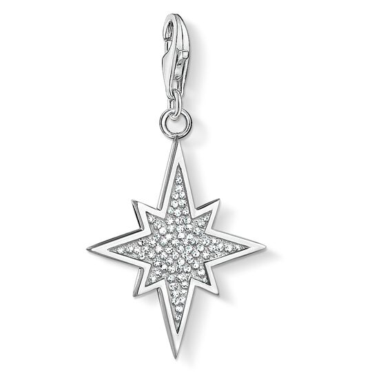 Charm pendant glitter star from the  collection in the THOMAS SABO online store