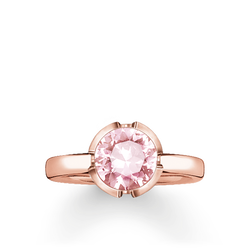 "anello solitario ""Signature Line rosa piccolo"" from the Glam & Soul collection in the THOMAS SABO online store"