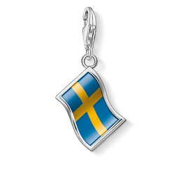 Charm pendant flag Sweden from the Charm Club Collection collection in the THOMAS SABO online store