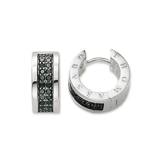 hoop earrings classic black from the  collection in the THOMAS SABO online store