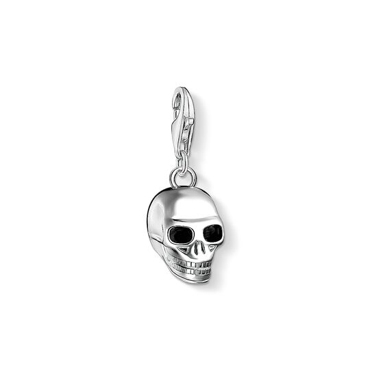Charm pendant skull silver from the Charm Club collection in the THOMAS SABO online store