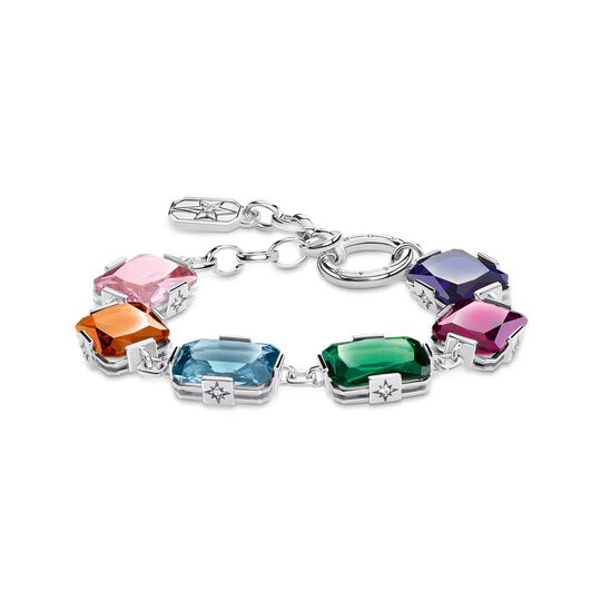 Bracelet large colourful stones, silver from the  collection in the THOMAS SABO online store
