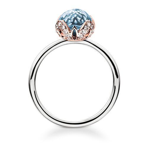 "solitaire ring ""blue lotus flower"" from the Glam & Soul collection in the THOMAS SABO online store"