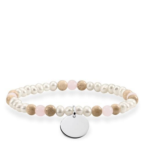 """bracelet """"Brown, white disc"""" from the Love Bridge collection in the THOMAS SABO online store"""