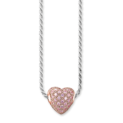 "necklace ""hot pink heart pavé"" from the Karma Beads collection in the THOMAS SABO online store"