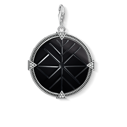 ciondolo Charm medaglia vintage nera from the  collection in the THOMAS SABO online store