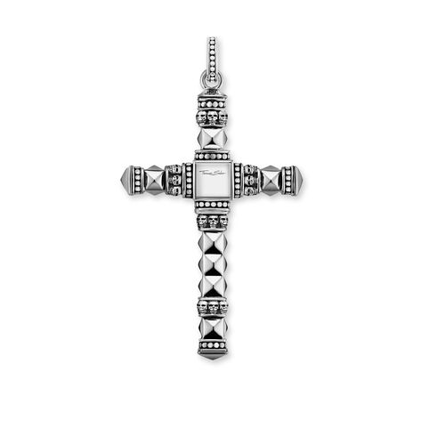 """pendant """"Ethnic Cross Black Medium"""" from the Rebel at heart collection in the THOMAS SABO online store"""