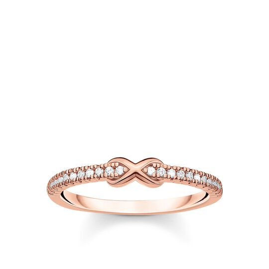 Ring infinity with white stones rose gold from the Charming Collection collection in the THOMAS SABO online store