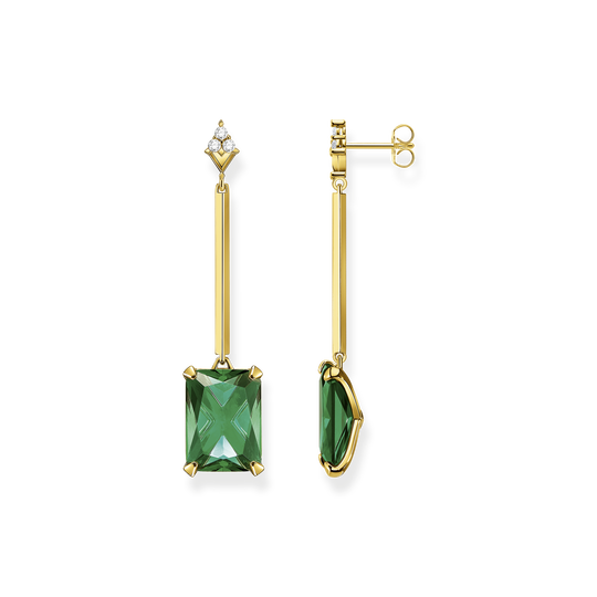 Earrings green stone gold from the Glam & Soul collection in the THOMAS SABO online store