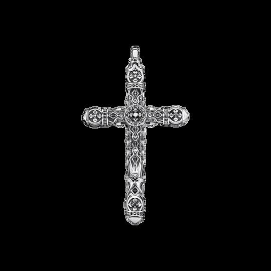 Pendentif croix pierres noires argent de la collection Rebel at heart dans la boutique en ligne de THOMAS SABO