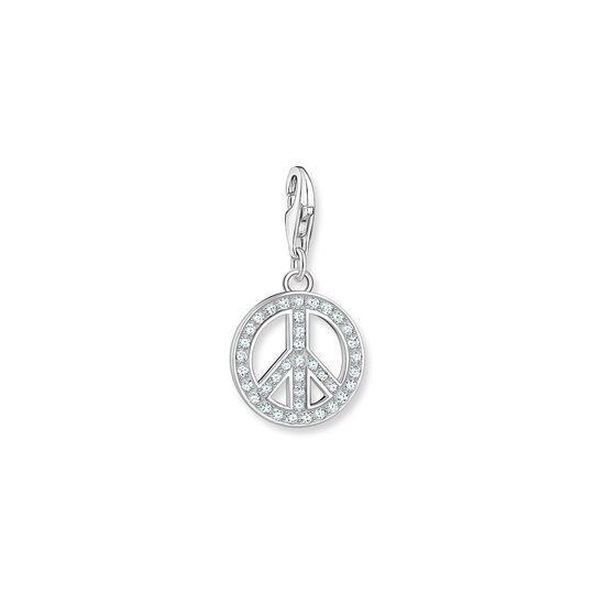 Charm-hängsmycke peace silver ur kollektionen Charm Club i THOMAS SABO:s onlineshop