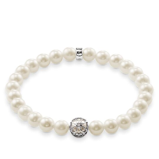 bracciale con perla fiore di loto from the Glam & Soul collection in the THOMAS SABO online store