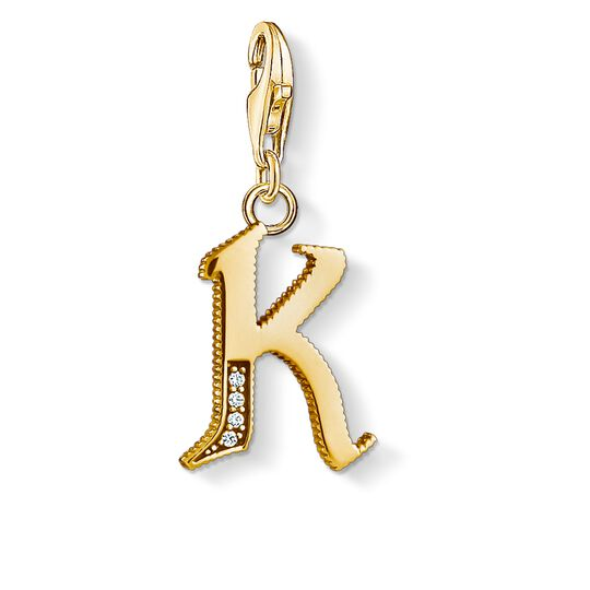 Charm pendant letter K gold from the Charm Club collection in the THOMAS SABO online store