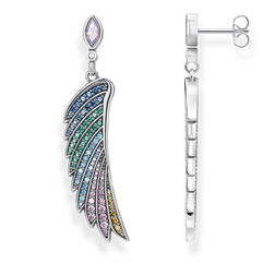 orecchino pendente ala di colibrì multicolore argento from the Glam & Soul collection in the THOMAS SABO online store