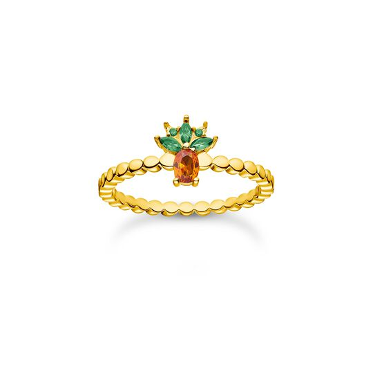 Ring pineapple gold from the Charming Collection collection in the THOMAS SABO online store