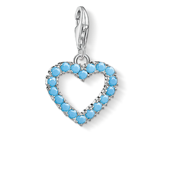 Charm pendant Turquoise heart from the  collection in the THOMAS SABO online store