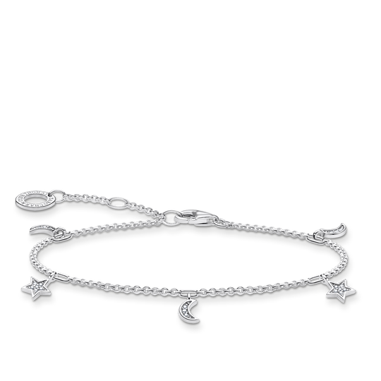 Bracelet star & moon silver from the Charming Collection collection in the THOMAS SABO online store
